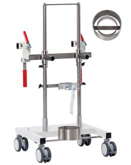 OxyDoc Light Bottle Cart to dock onto patient beds - mth medical